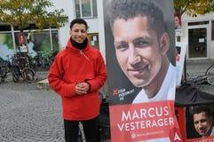 MARCUS VESTERAGER_SOCIAL DEMOKRATA kandydat Zdjęcie Stock