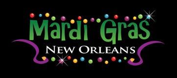 mardi логоса gras Стоковые Фотографии RF