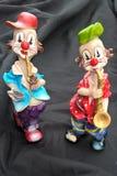 Mardi Gra Clowns Royaltyfri Fotografi