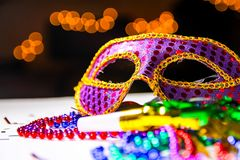 Mardi Gra, Verjaardag of Nieuwjaren! stock afbeelding