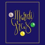 Mardi Gras με τη μάσκα Στοκ Εικόνα