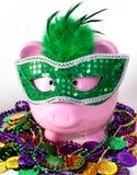 mardi gras банка piggy Стоковые Изображения