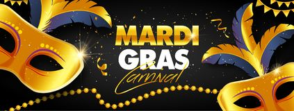 Mardi Gras banner design royalty free stock photography