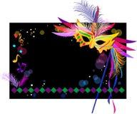 Mardi Gras. Mask on a festive background