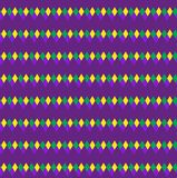Mardi Gras abstract geometric pattern. Purple, yellow, green rhombus repeating texture. Endless background, wallpaper. Backdrop. Vector illustration Stock Photo