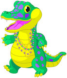 Mardi Gras Alligator Royalty Free Stock Photography