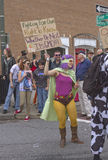 Mardi Gras Anti GMO Super Heroes Stock Photo