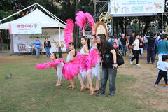Mardi Gras Arts dans l'événement de parc en Hong Kong Photo libre de droits