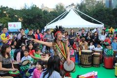 Mardi Gras Arts dans l'événement de parc en Hong Kong Images stock