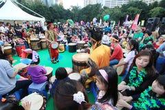 Mardi Gras Arts dans l'événement de parc en Hong Kong 2014 Image stock