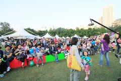 Mardi Gras Arts dans l'événement de parc en Hong Kong 2014 Images stock
