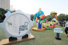 Mardi Gras Arts dans l'événement de parc en Hong Kong 2014 Photos libres de droits