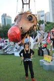 Mardi Gras Arts dans l'événement de parc en Hong Kong 2014 Photo libre de droits