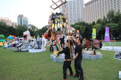 Mardi Gras Arts dans l'événement de parc en Hong Kong 2014 Images libres de droits