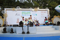 Mardi Gras Arts dans l'événement 2014 de parc en Hong Kong Images libres de droits