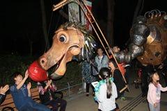 Mardi Gras Arts dans l'événement 2014 de parc en Hong Kong Images stock