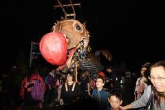 Mardi Gras Arts dans l'événement de parc en Hong Kong Image stock