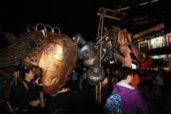 Mardi Gras Arts dans l'événement de parc en Hong Kong Photo stock