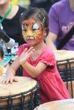 Mardi Gras Arts nell'evento del parco in Hong Kong 2015 fotografie stock libere da diritti