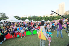 Mardi Gras Arts no evento do parque em Hong Kong 2014 Imagens de Stock