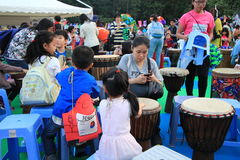 Mardi Gras Arts no evento do parque em Hong Kong 2014 Fotos de Stock