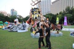 Mardi Gras Arts no evento do parque em Hong Kong 2014 Imagens de Stock Royalty Free