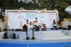 Mardi Gras Arts no evento 2014 do parque em Hong Kong Imagens de Stock Royalty Free