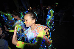 Mardi Gras Arts no evento 2014 do parque em Hong Kong Imagens de Stock