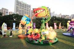 Mardi Gras Arts no evento 2014 do parque em Hong Kong Foto de Stock