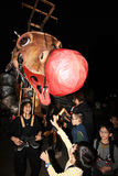 Mardi Gras Arts no evento do parque em Hong Kong 2014 Imagem de Stock