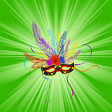 Mardi gras background. Festive Mardi Gras mask, abstract background