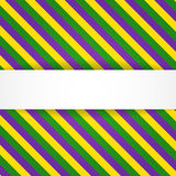 Mardi gras background with banner Stock Images
