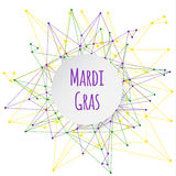 Mardi Gras background with banner. stock photo