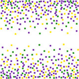 Mardi Gras background with confetti. Royalty Free Stock Image