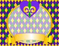 Mardi Gras background design. With place for text