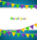 Mardi Gras background with flags Stock Photo