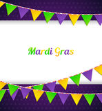 Mardi Gras background with flags Royalty Free Stock Image