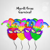 Mardi Gras background vector illustration