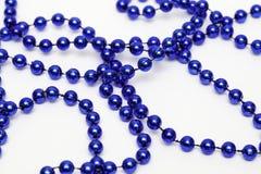 Mardi Gras Bead Necklace royaltyfri foto