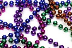 Mardi Gras Bead Necklace royaltyfri fotografi