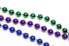 Mardi Gras Bead Necklace royaltyfria foton