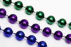 Mardi Gras Bead Necklace royaltyfria bilder
