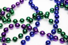 Mardi Gras Bead Necklace arkivbild