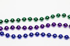 Mardi Gras Bead Necklace arkivfoto