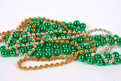 Mardi Gras Beads Royalty Free Stock Photography