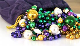 Mardi Gras Beads Royalty Free Stock Photography