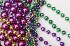 Mardi Gras beads stock images