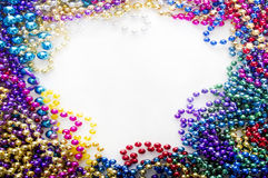 Mardi gras beads stock images