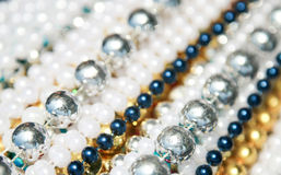 Mardi Gras Beads. Pile of Mardi Gras Beads ready to be tossed to parade audiences Stock Photography