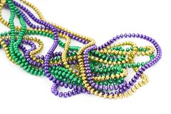 Free Mardi Gras Beads Royalty Free Stock Photo - 491965